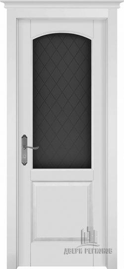 Дверь межкомнатная Фоборг Эмаль белая Остекленная