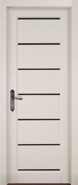 Дверь межкомнатная Премьер+ Эмаль белая Остекленная