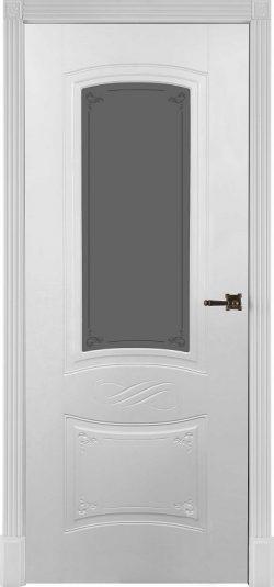 Дверь межкомнатная Марианна Эмаль белая Остекленная