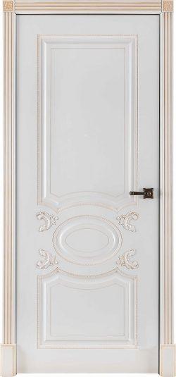 Дверь межкомнатная Аристократ Патина капучино Эмаль белая Глухая
