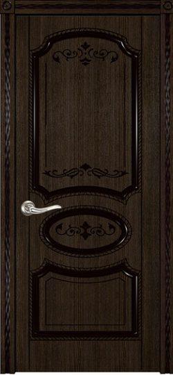 Дверь межкомнатная Муза мореный дуб