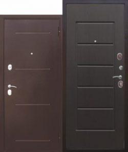 Дверь мет. 7,5 Гарда медный антик Белый Ясень/Дуб Сонома