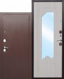 Дверь мет. Ampir Белый Ясень/Дуб Сонома