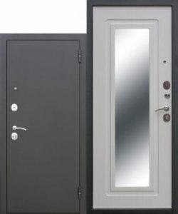 Дверь мет. Царское Зеркало муар Белый Ясень/Дуб Сонома