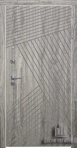 Дверь входная Nova, цвет дуб мелфорд грей софт, панель – nova цвет кантри горизонт