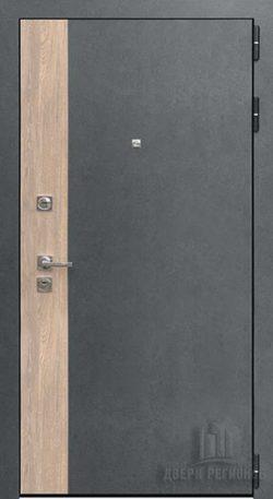 Дверь входная Бруклин, цвет серая штукатурка + дуб европейский красный, панель – бруклин цвет cандал светлый